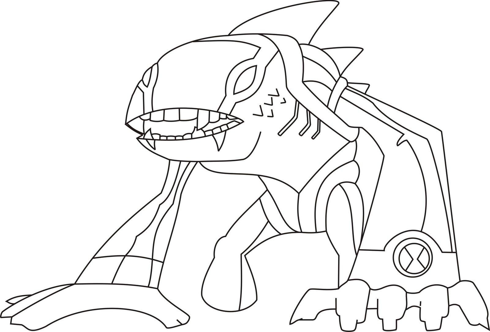 Dibujo para imprimir y colorear de Alien extraterrestre Ben 10 para ...