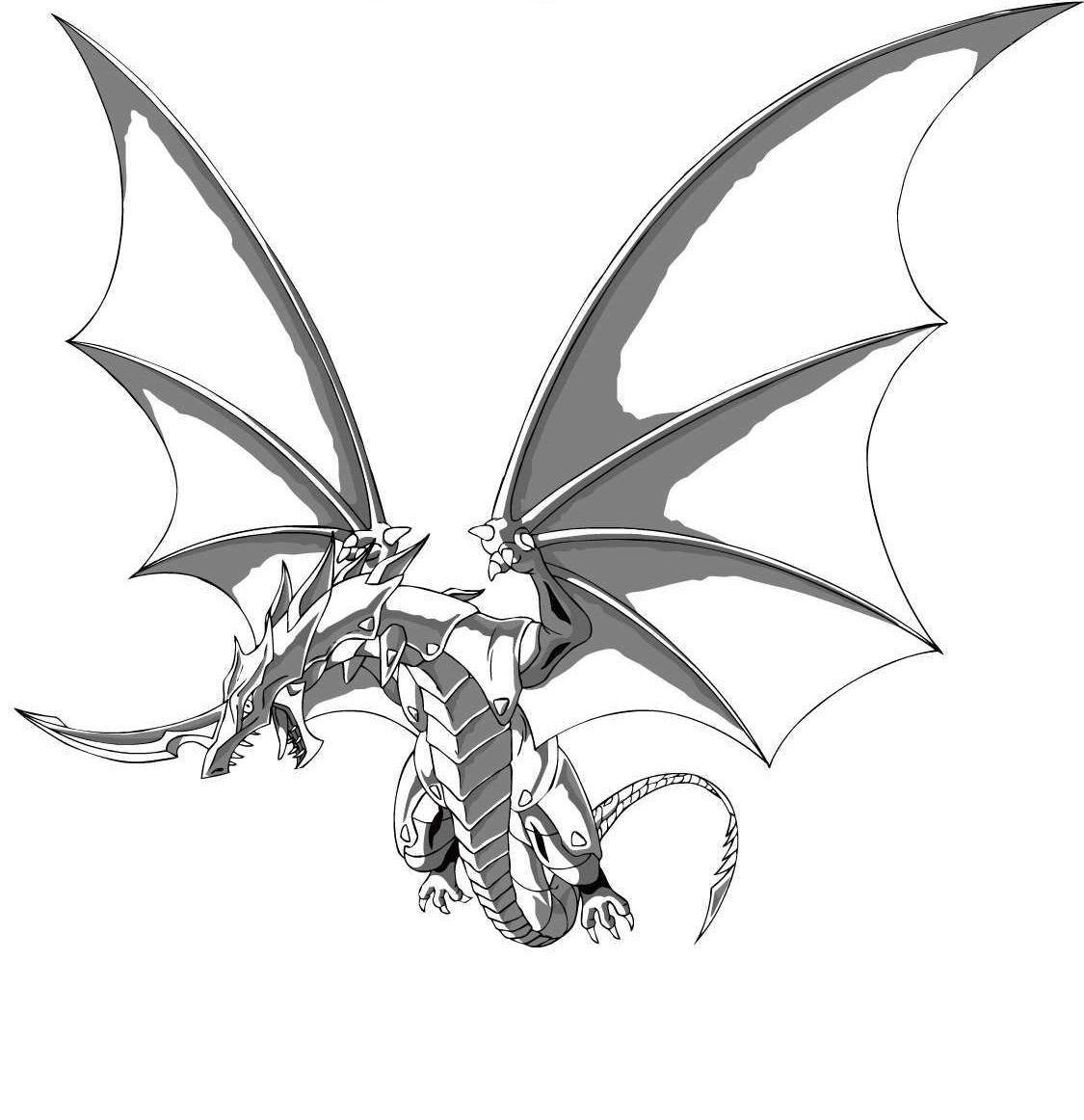 Dibujo para imprimir y colorear de Dragón Bakugan