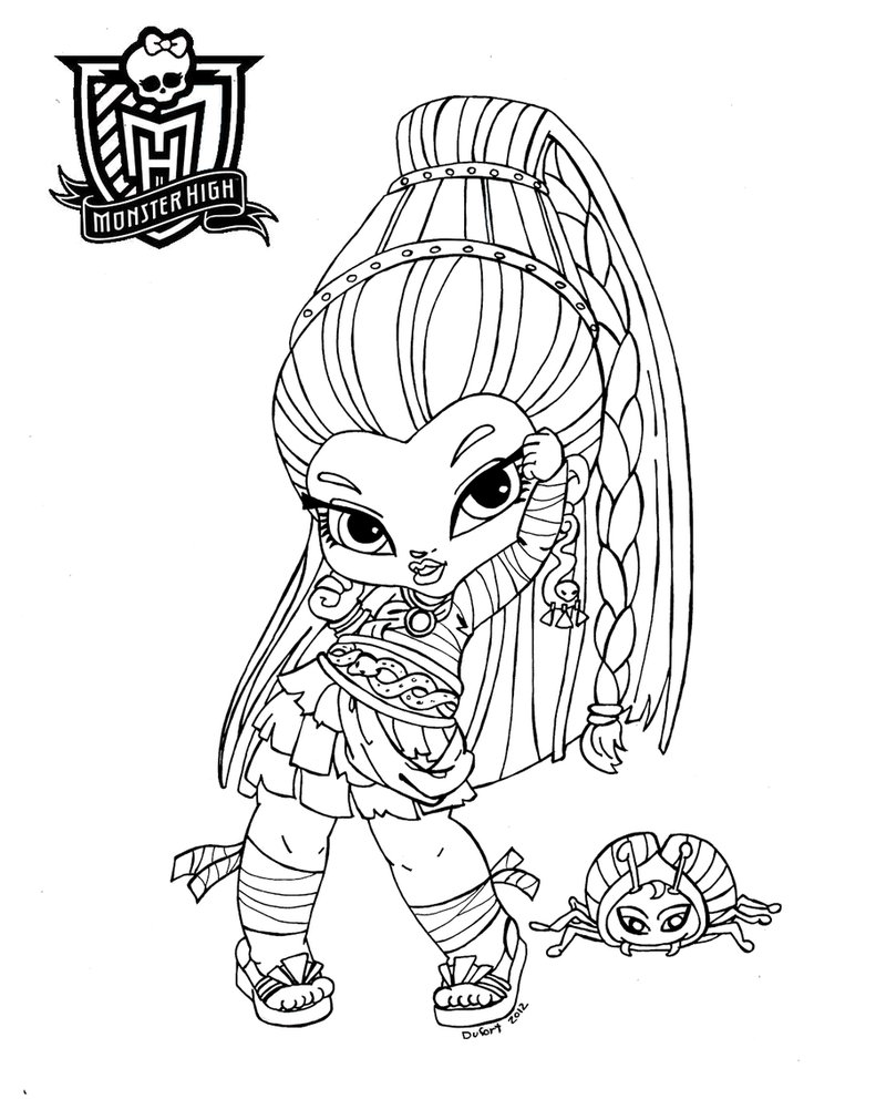 Dibujo para colorear de Nefera de Nile, baby Monster High