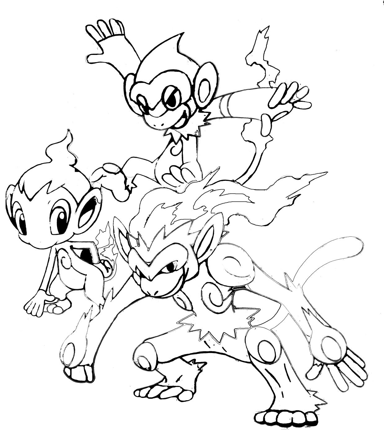 Pokemon Trio de monos FireTrio