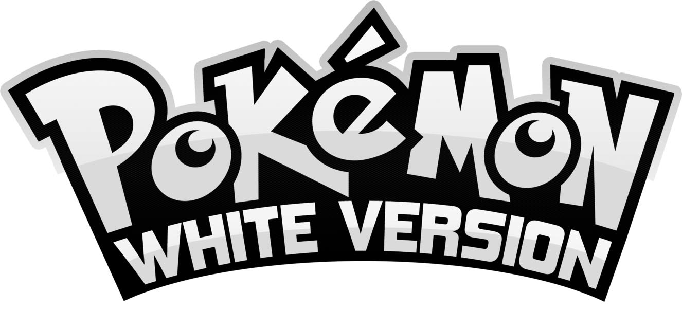 Pokemon White Logo para colorear