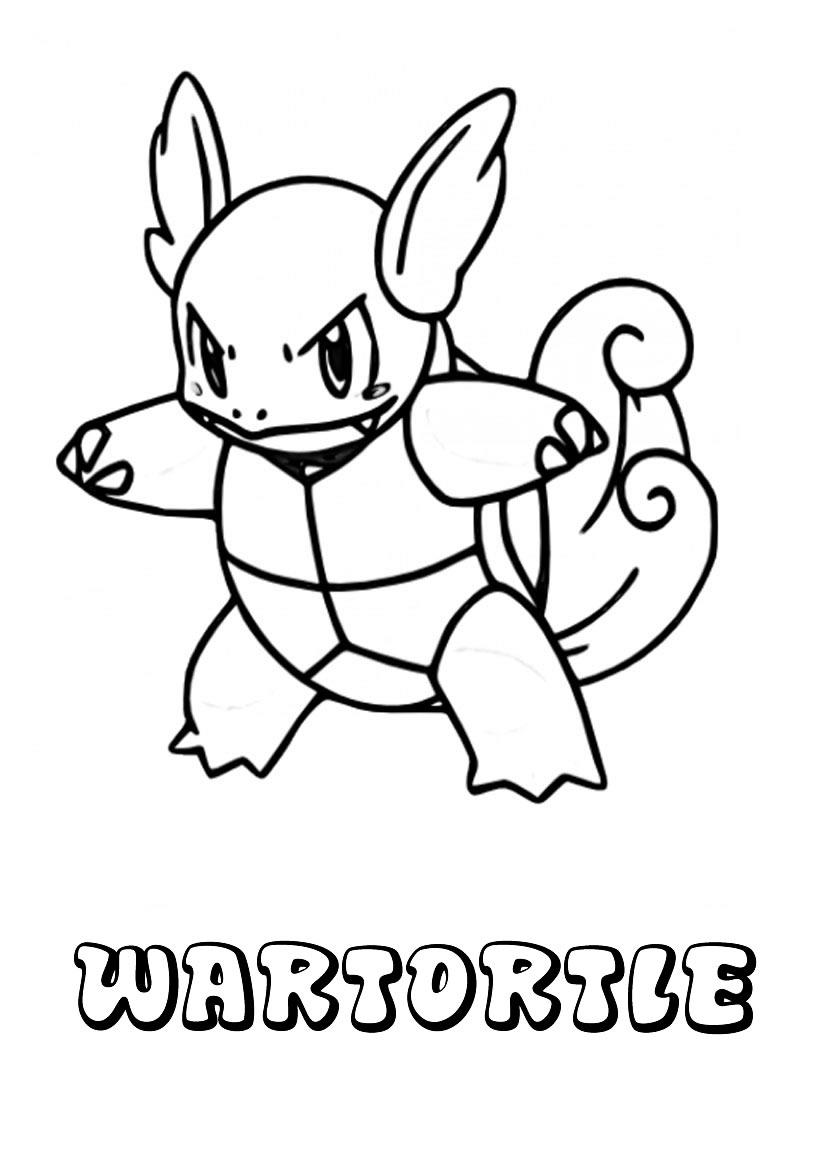 Watertortle - Pokemon tortuga para pintar