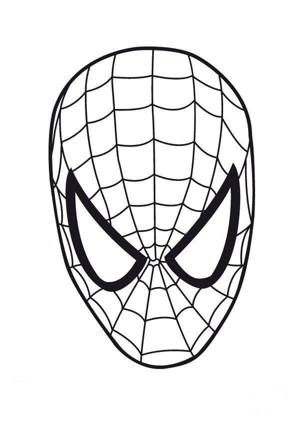 Dibujo para imprimir y colorear de Careta de Spiderman